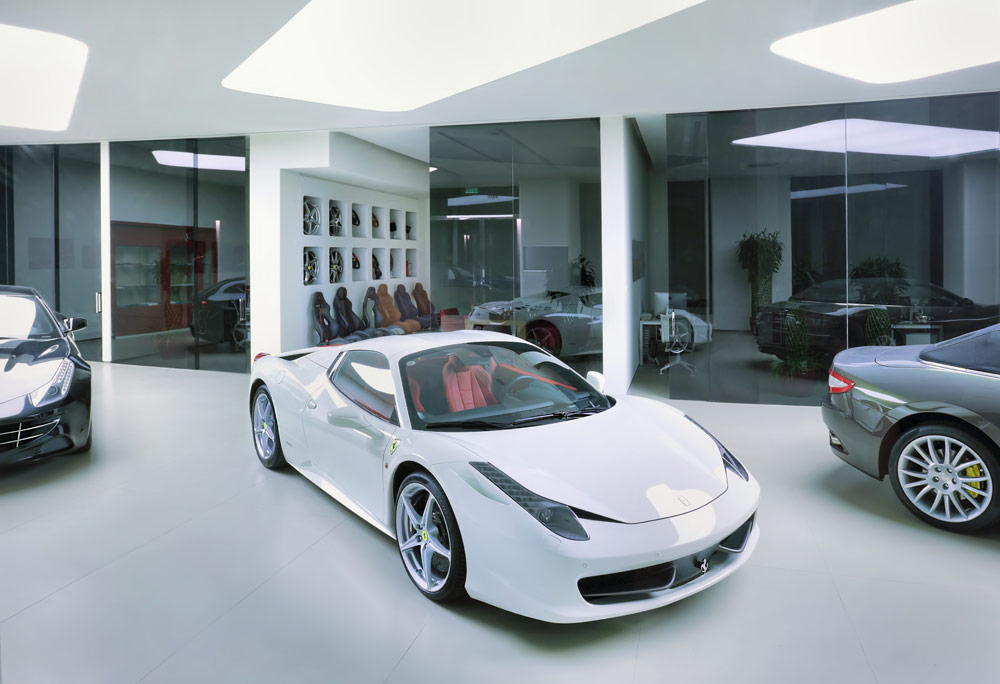 coatingvloer auto showroom