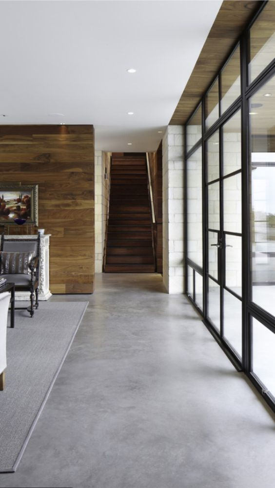 Vloerkleed met betonlook vloer
