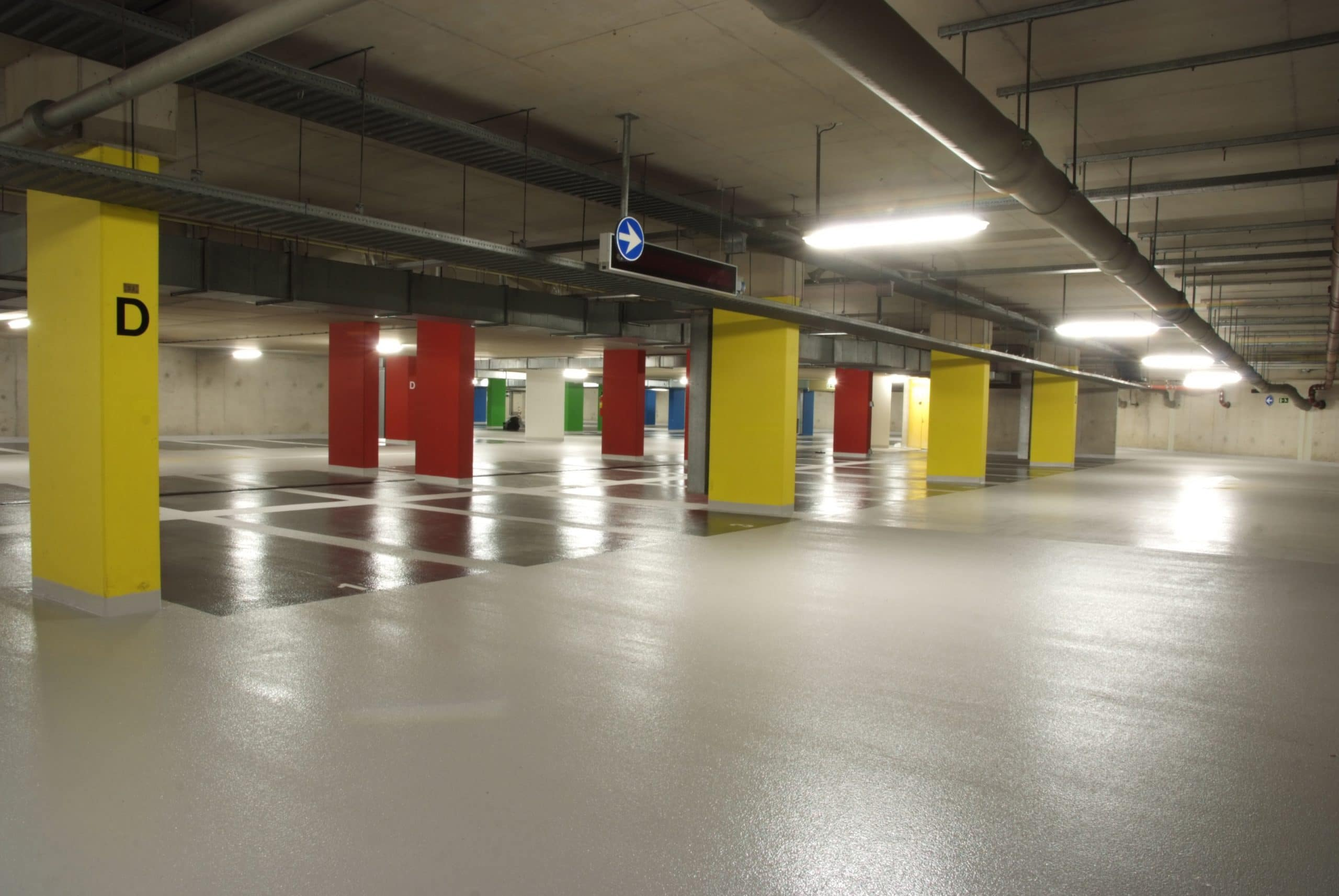 Vloercoating in parkeergarage